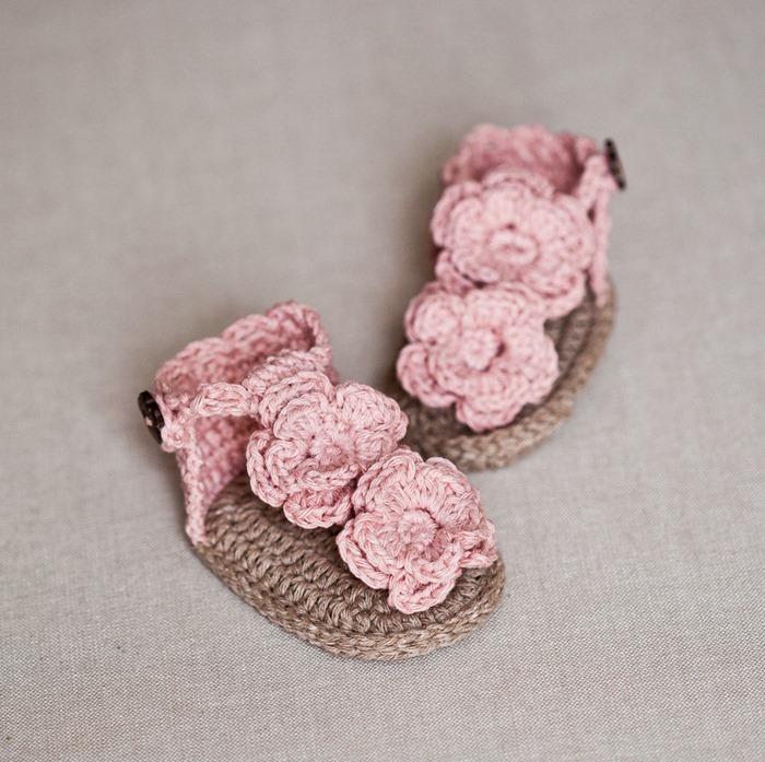 Flowery Flip Flops Mon Petit Violon