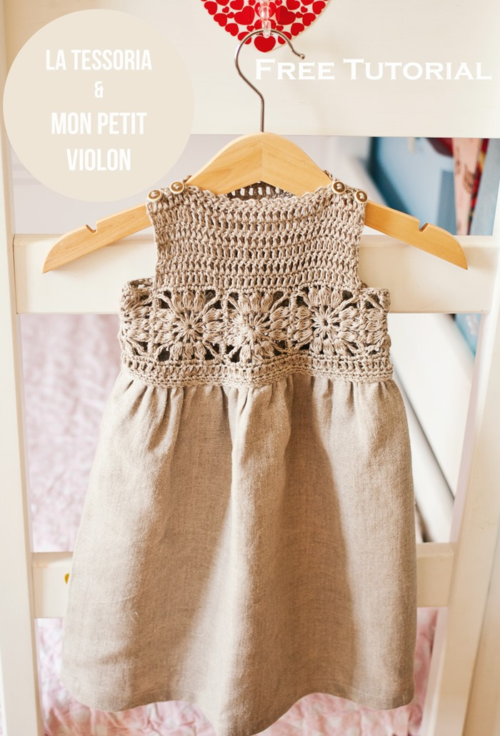Free Crochet Tutorial Granny Sqaure Dress By Mon Petit Violon