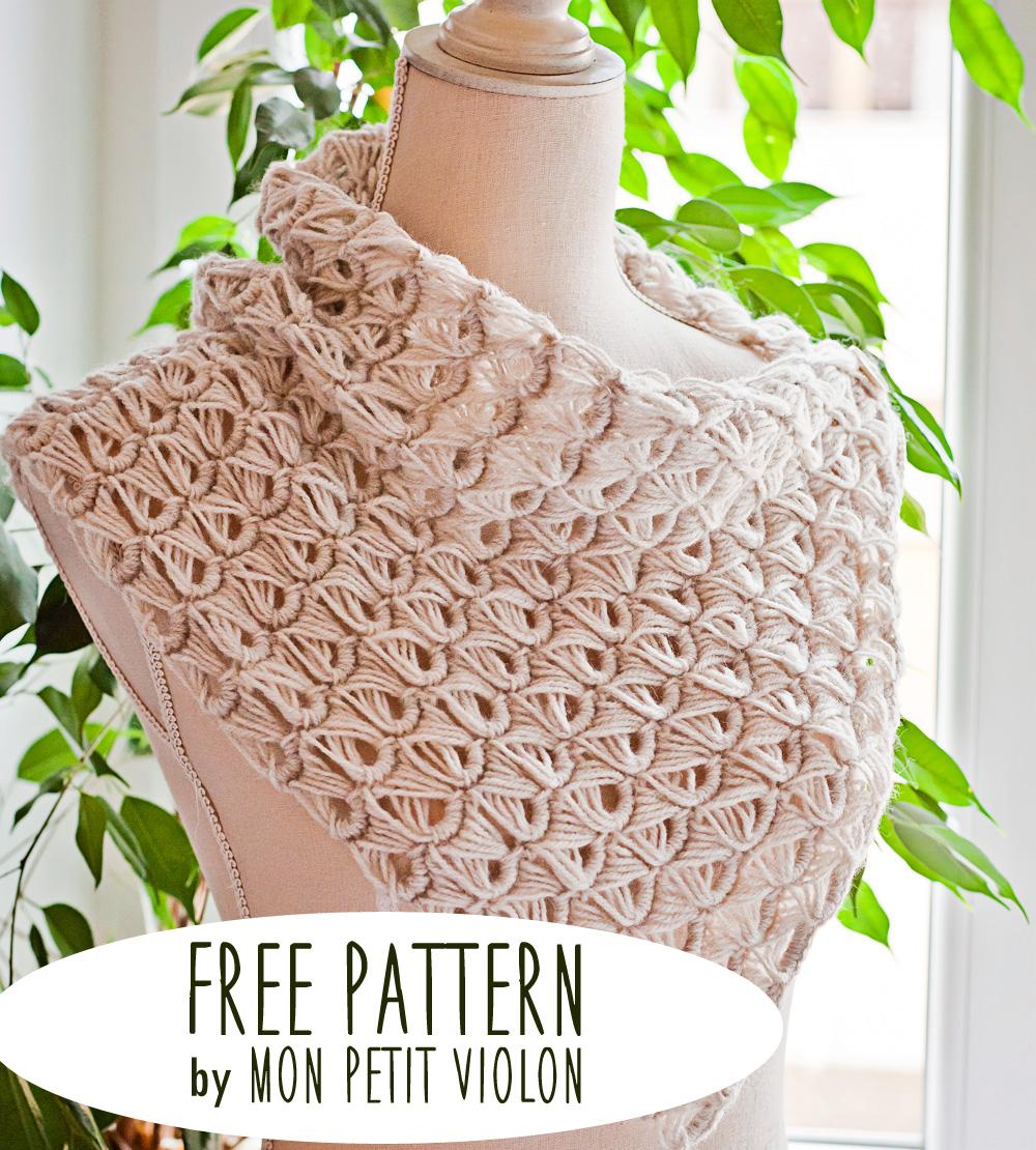 Crochet Stitches Broomstick Lace : ... Petit Violon Free pattern - Broomstick Lace Cowl - Mon Petit Violon
