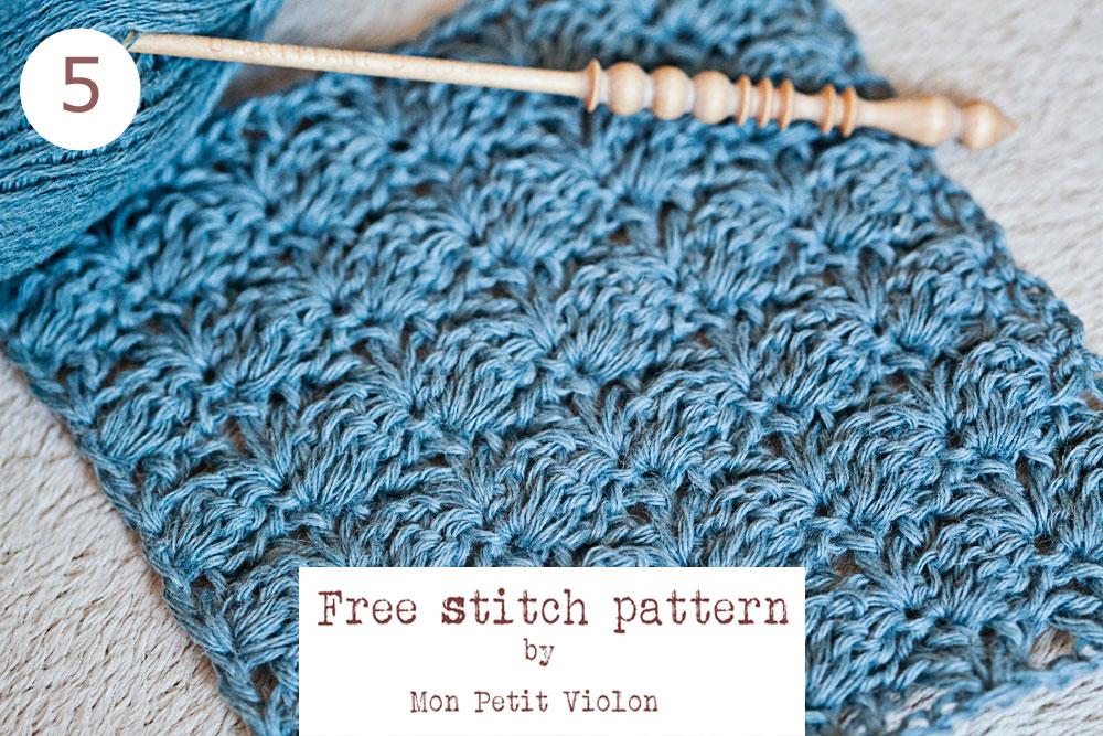 New Free Crochet Stitch Pattern Easy And Beautiful Mon Petit Violon