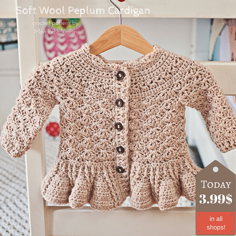 e21bc48ce How to make gorgeous peplum cardigan for kids  Pattern is here ...