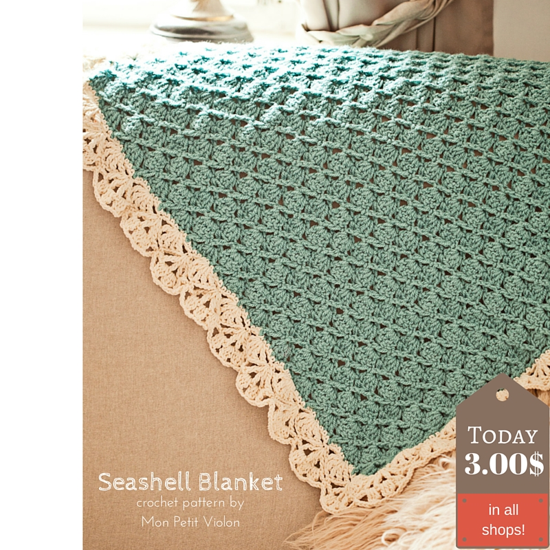 Crochet Seashell Blanket To Make For Babies But Not Only Mon