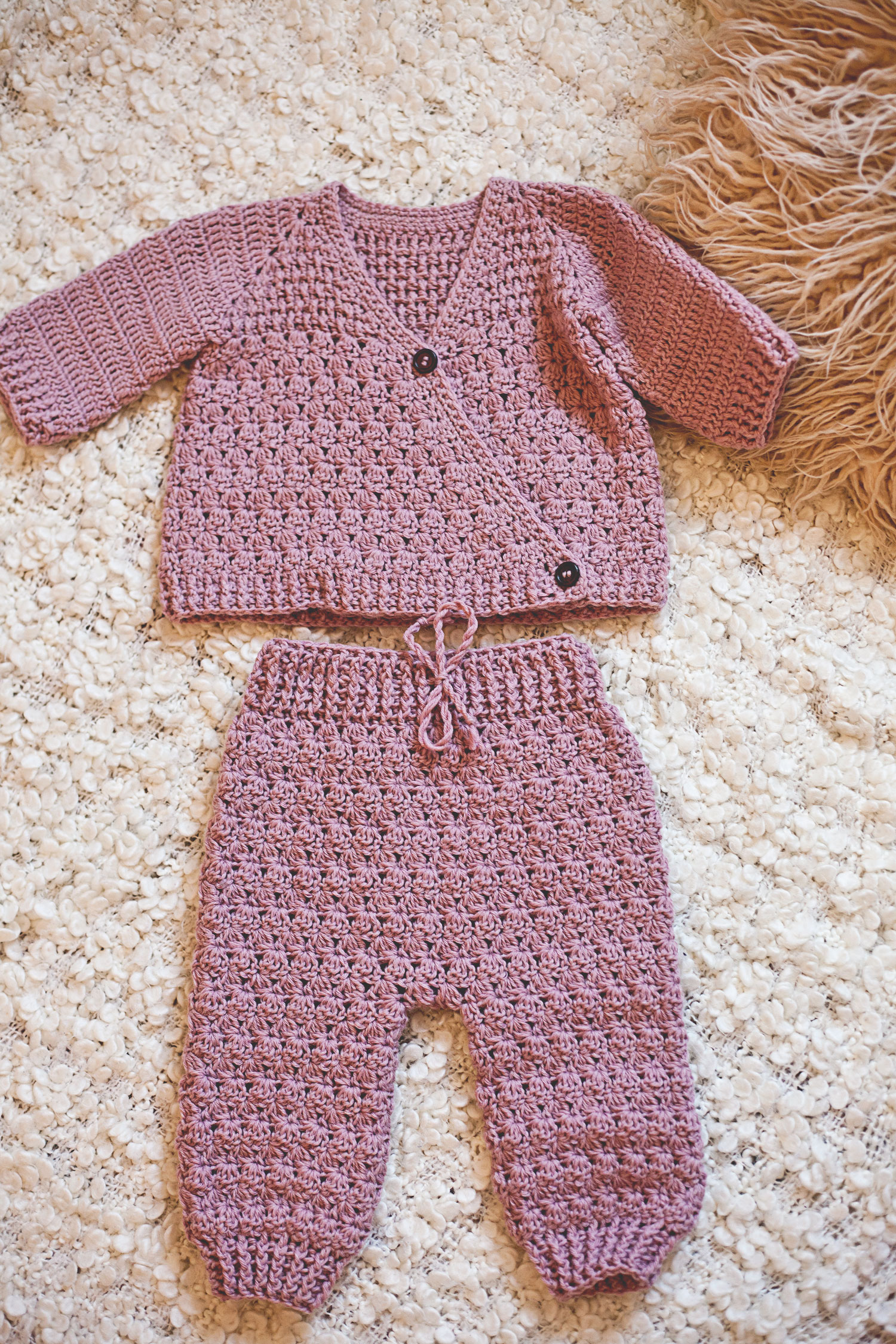 0c8d892bb0cd Crochet Baby Set - Wrap Jacket and Trousers and 30% off coupon code ...