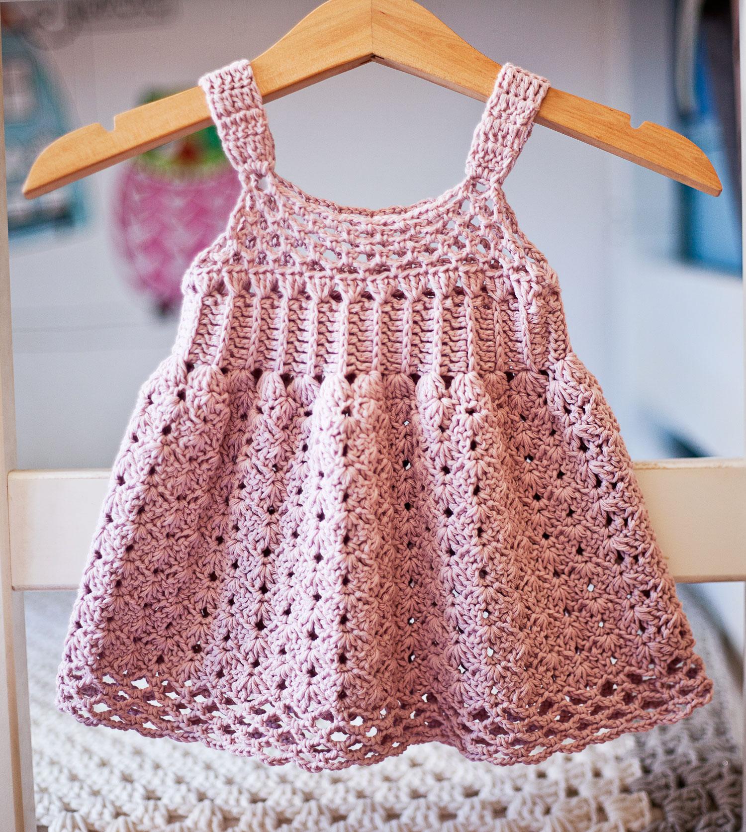 Empire Waist Dress, crochet pattern by Mon Petit Violon